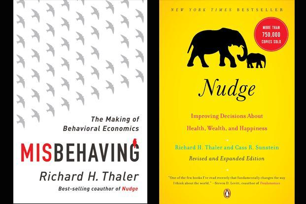 Nudge and Misbehaving are two books written by Richard Thaler