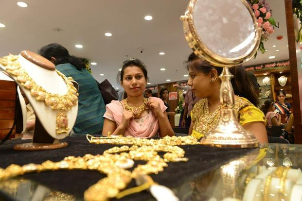 Pure gold (99.9 purity) also moved up by a similar margin to end at Rs29,395 per 10 grams against Rs29,385 earlier in Mumbai. Photo: Hemant Mishra/Mint