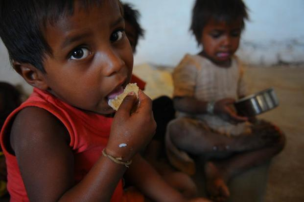 While infant and child mortality rate improved in 2005-15, India still has about 50% of undernourished children of the world, says the joint report by Assocham and EY. Photo: Priyanka Parashar/Mint