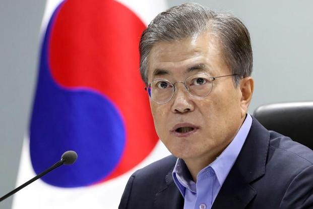 South Korea President Moon Jae-in also said there can be no military action on the Korean peninsula without the South's consent, adding the government will continue working for peace on the peninsula. Photo: Reuters