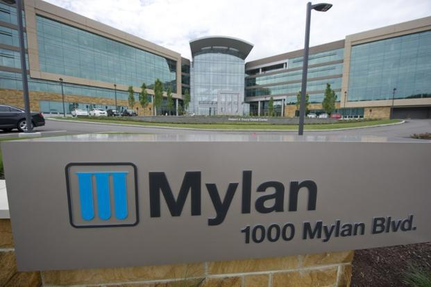 Mylan's shares fell 6.6% in New York, the biggest intraday drop since November 2016. Photo: AFP