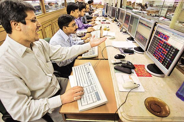 At 12:20pm, the Sensex was trading at 33,619.4, up 406.31 points, or 1.22%. Photo: AP