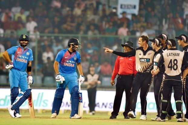 The comprehensive 53-run victory in the T20 series opener at Delhi's Feroze Shah Kotla has put India firmly in the saddle against New Zealnd. Photo: PTI