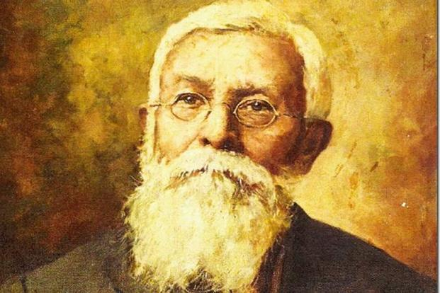 Dadabhai Naoroji on canvas by V.R. Rao.