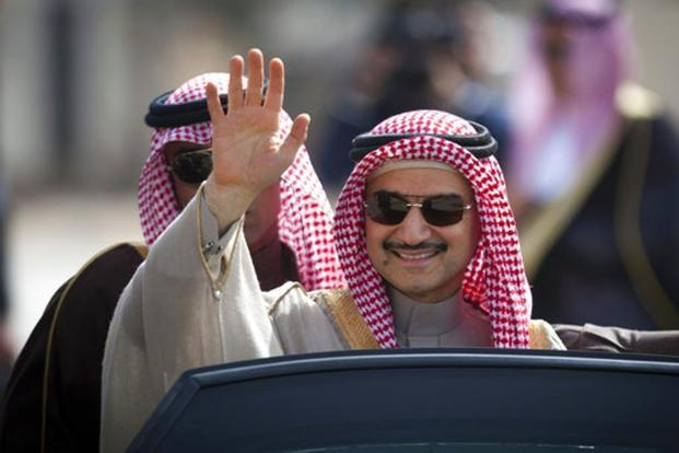 Kingdom Holding Co. chairman Prince Alwaleed bin Talal, who is valued at $19 billion in Bloomberg Billionaires Index, is a nephew of King Salman. Photo: AP