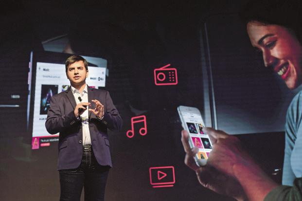 Ola CEO Bhavish Aggarwal. The Ola-Microsoft tie-up will allow Ola Play users access to Office 365 and Skype for Business during their rides. Photo: AFP