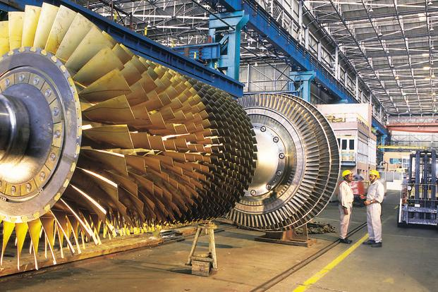 Bhel's income from operations fell 9% to Rs6,168 crore.