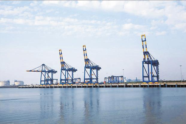 A file photo of Adani's Hazira port. There is concern among a section of the potential bidders whether Essar group will continue to provide port and power facilities on the same terms if the Ruia family loses control of Essar Steel.