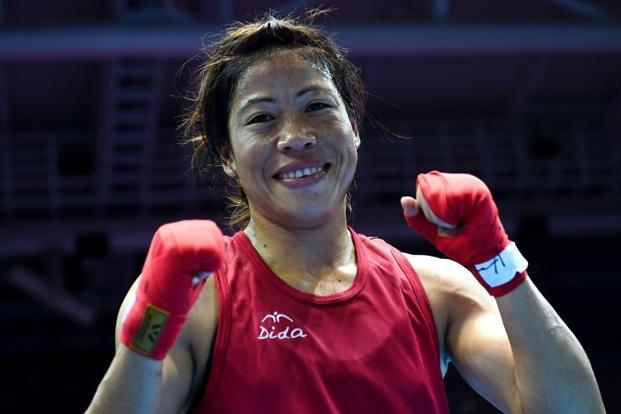 Mary Kom scored for her ringcraft, which included some fine footwork to outpace North Korea's Hyang Mi at crucial junctures. Photo: AFP