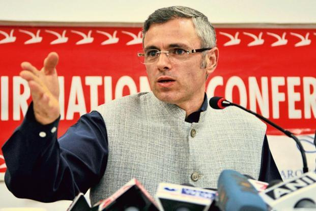Omar Abdullah meets Interlocutor Dineshwar Sharma in Srinagar