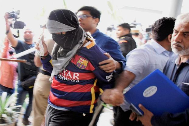The class 11 student, apprehended in connection with the Pradyuman Thakur murder case, was produced before the Juvenile Justice Board in Gurugram on Wednesday. Photo: PTI