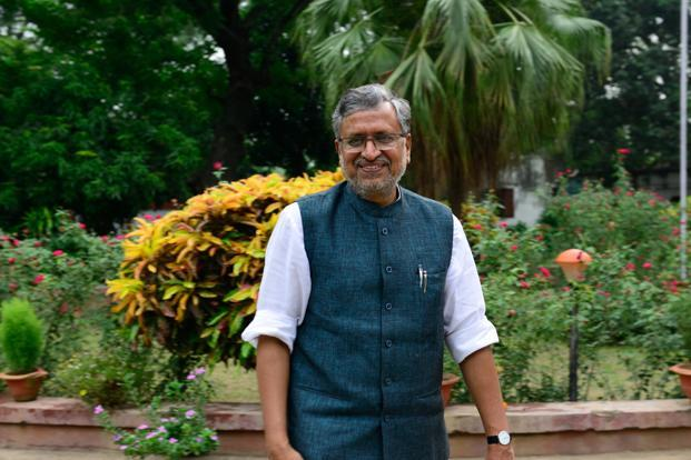A file photo of Bihar deputy chief minister Sushil Kumar Modi. Photo: Pradeep Gaur/Mint