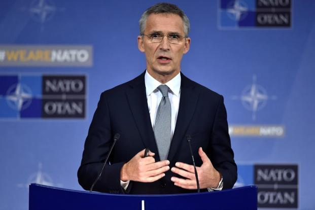 Nato secretary-general Jens Stoltenberg during a NATO defence ministers meeting at the alliance's headquarters in Brussels. Photo: Reuters