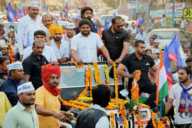 PAAS convener Hardik Patel. The Patel community holds much importance as it comprises 12%-14% of the population spread over at least 50 assembly constituency. Photo: PTI