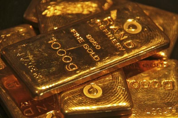 Spot gold was down 0.1% at $1,283.61 per ounce as of 2.26pm. Photo: Reuters