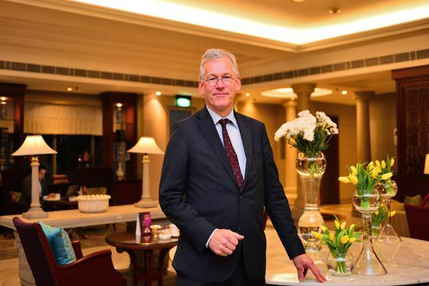 Frans van Houten, CEO of Dutch healthcare technology firm Royal Philips, is in India to meet government officials, a follow-up to his meeting with PM Narendra Modi in the Netherlands in June. Photo: Priyanka Parashar/Mint
