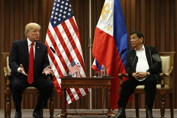 There was no pressure from Donald Trump over the Philippines' bloody war on drugs during a meeting President Rodrigo Duterte. Photo: AFP