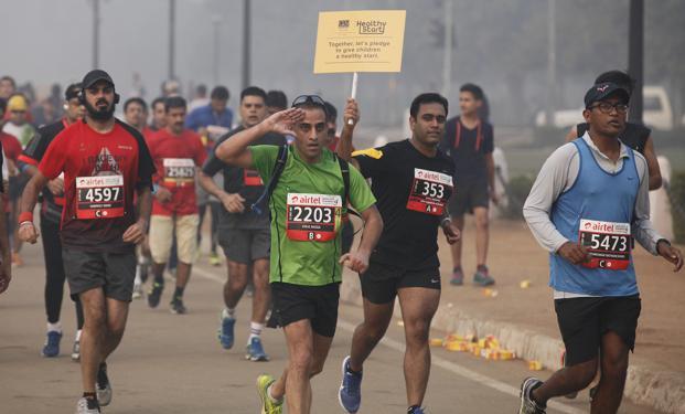 Image result for Delhi half marathon
