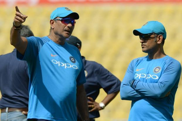 India's chief coach Ravi Shastri on Tuesday once again extended unflinching support to Mahendra Singh Dhoni. Photo: AFP