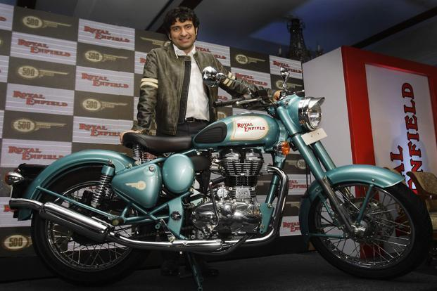 Eicher Motors CEO Siddhartha Lal said the company has set a target to roll out 8.25 lakh Royal Enfield motorcycles during the current fiscal year. Photo: AP