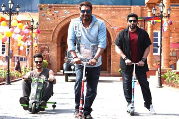 A still from 'Golmaal Again', which crossed the Rs200 crore mark at the box office by Monday.