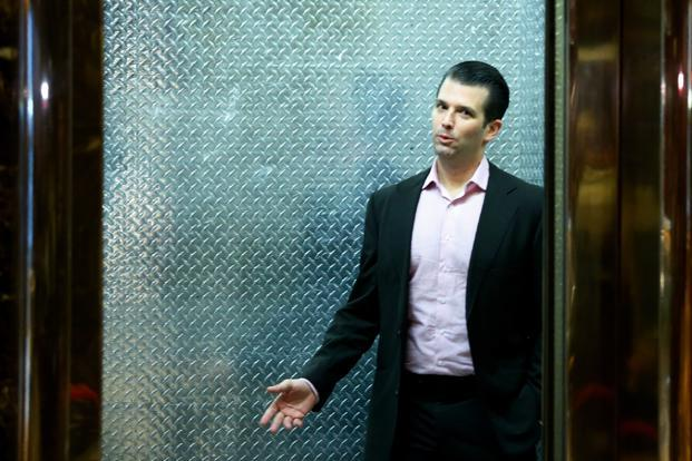 "Donald Trump Jr revealed what he said was the ""entire"" chain of Twitter direct messages with WikiLeaks between September 2016 and July this year. Photo: AFP"