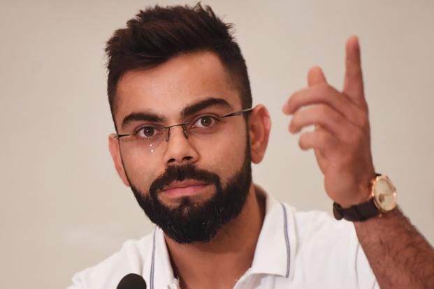 India's captain Virat Kohli during a press conference in Kolkata on Wednesday, ahead of the first Test cricket match between India and Sri Lanka. Photo: AFP