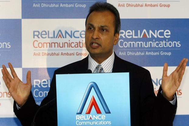 Reliance Group chairman Anil Ambani. On Wednesday, shares of Reliance Communications plummeted 12.12% to Rs10.15 on BSE while the benchmark Sensex shed 0.55% to end the day at 32,760.44 points. Photo: PTI
