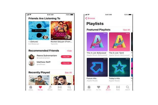 Users can follow their friends on Apple Music, see what they are listening to and also share their entire playlists with them.