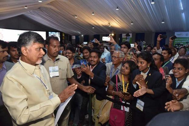 Andhra Pradesh CM Chandrababu Naidu said there was a need for regulating automated sprays and also drone usage. Photo: Mint