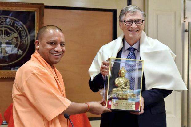 bill gates meets yogi adityanath to discuss ways to intensify je