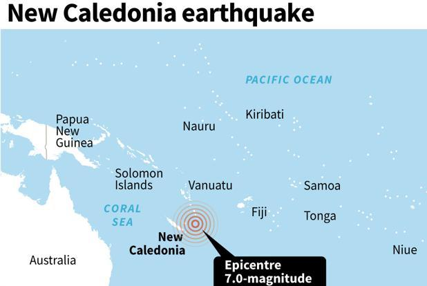 The US Geological Survey said the shallow tremor hit approximately 82km to the east of the lightly populated Loyalty Islands. Photo: AFP