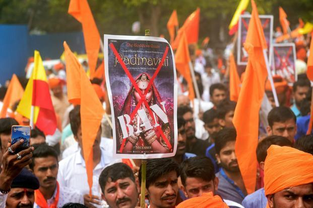 The release of Sanjay Leela Bhansali's 'Padmavati', starring Deepika Padukone, Ranveer Singh and Shahid Kapoor, was put off indefinitely by Viacom18 following massive protests across the country over points of history and a run-in with the CBFC. Photo: PTI