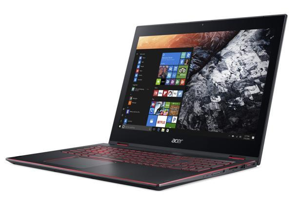 Acer's Nitro 5 Spin is a rare a 2-in-1 notebook with a metal body and a 15.6-inch screen which can bend all the way back until it touches the base and can be used as a big-screen tablet.