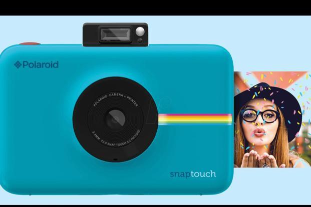 Polaroid snap touch is available in multiple colour choices, including black, white, blue and red