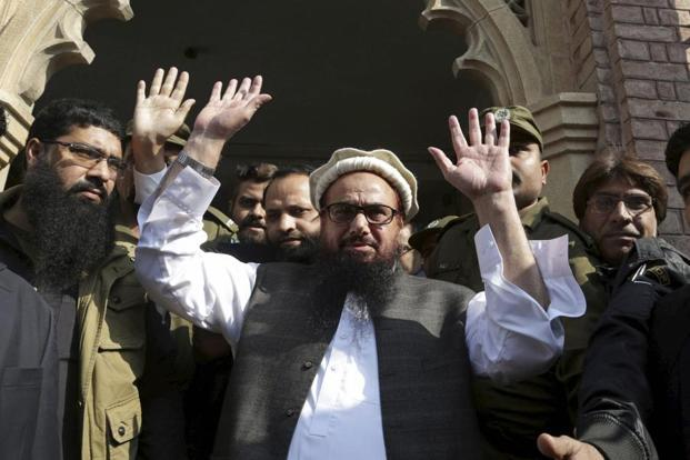 Last month, the judicial review board had allowed a 30-day extension to the detention of Hafiz Saeed which will expire next week. Photo: AP