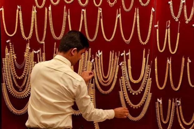 Pure gold (99.9 purity) also dipped by the same amount to finish at Rs29,590 per 10 grams compared Rs29,635 Thursday in Mumbai. Photo: Reuters