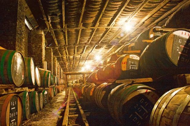 A file photo of whisky barrels at the Kasauli brewery. Photo: Abel Robinson/Mint