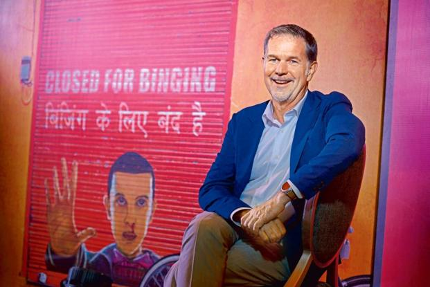 Netflix CEO and co-founder Reed Hastings. Netflix India recently tied up with Shah Rukh Khan's Red Chillies Entertainment for an original show called 'The Bard of Blood'. Photo: Abhijit Bhatlekar/Mint