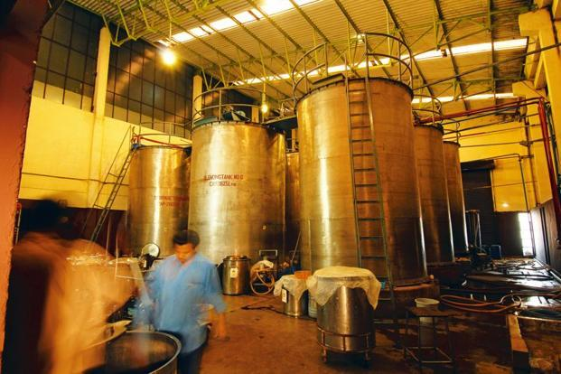 Blending tanks at Amrut Distilleries' Bengaluru plant. Photo: Hemant Mishra/Mint