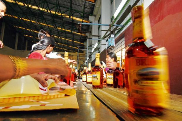 The bottling and assembly line at the plant. Photo: Hemant Mishra/Mint