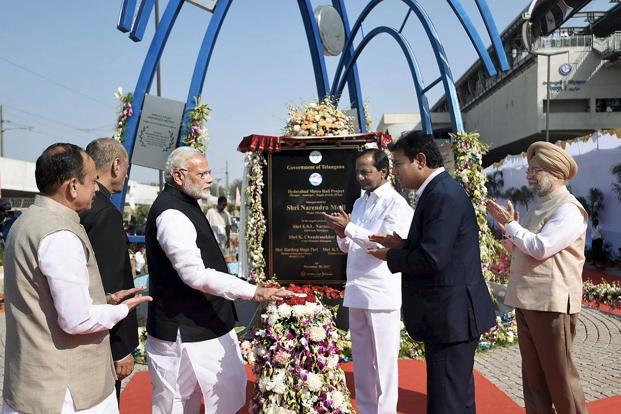 Prime Minister Narendra Modi to launch Hyderabad Metro Rail service today