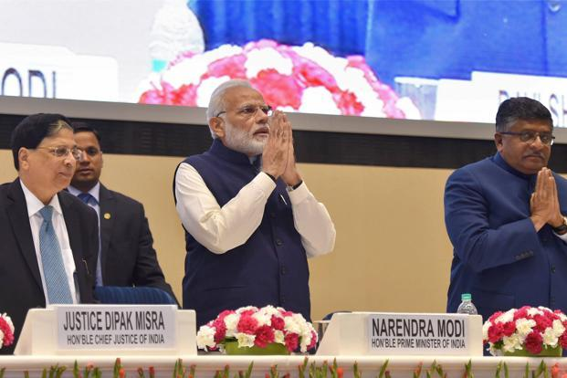 Prime Minister Narendra Modi has put in motion the herculean task of repealing obsolete laws: 1,200 laws have already been axed and another 1,824 await their turn at the executioner's block. Is it enough? No! But it's certainly a start. Photo: PTI
