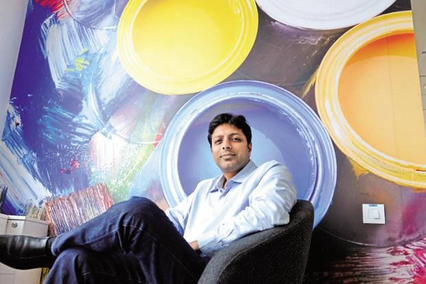 Amazon India head Amit Agarwal. Amazon Seller Services posted revenue of Rs3,129 crore in the year to March, compared with sales of Rs2,217 crore in the previous year. Photo: Hemant Mishra/Mint
