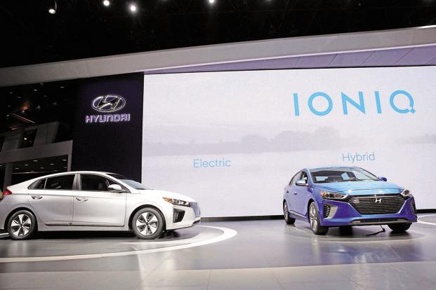 Hyundai sells electric and hybrid cars through the Ioniq brand in the US, Europe and East Asian markets. Photo: Reuters