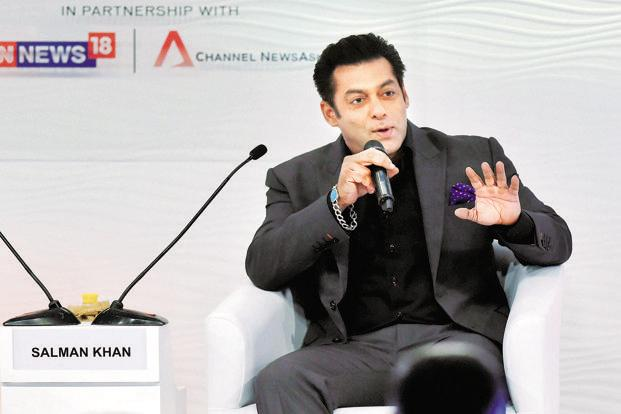 When asked about the Padmavati row, Salman Khan said it isn't fair to hurt anyone's sentiments, but neither is it fair to comment on the film without seeing it. Photo: PTI