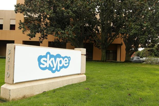 Skype is now on the list of no-go tech spaces that includes Facebook, Google, Line, Twitter and WhatsApp. Photo: Bloomberg