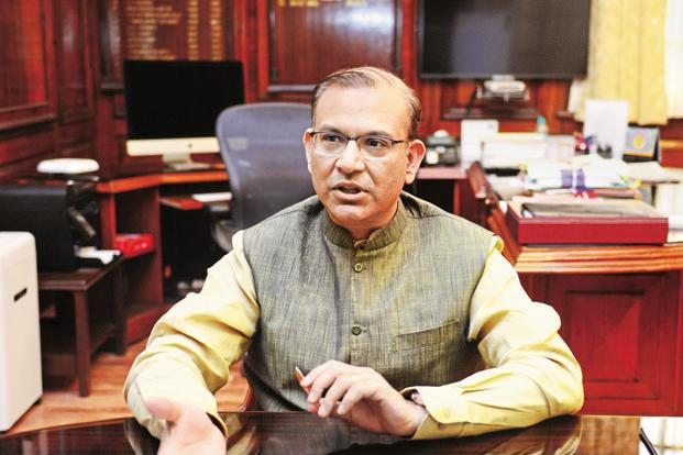 MoS for civil aviation Jayant Sinha said the govt is working in a time-bound manner to conclude the bidding process and the process of receiving the expressions of interest as well as bids should take six to eight months. Photo: Ramesh Pathania/Mint