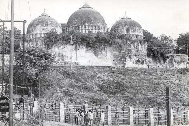 A file photo of the Babri Masjid, which was demolished on 6 December 1992. The demolition completes 25 years this week. Photo: HT