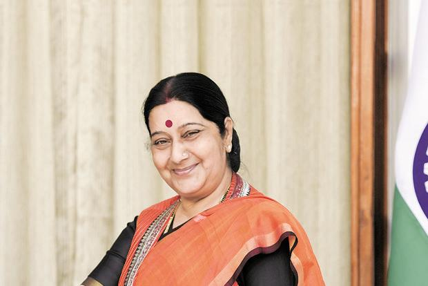 External affairs minister Sushma Swaraj was returning from the Russian city of Sochi where she attended the annual summit of the Shanghai Cooperation Organisation (SCO). Photo: Sushil Kumar/HT